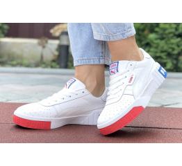 Женские кроссовки Puma Cali Remix Wn's белые с красным
