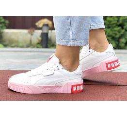 Женские кроссовки Puma Cali Remix Wn's белые с розовым