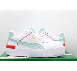 Женские кроссовки Puma Cali Sport Wn's белые с мятным