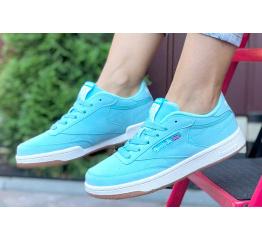 Купить Женские кроссовки Reebok C85 голубые