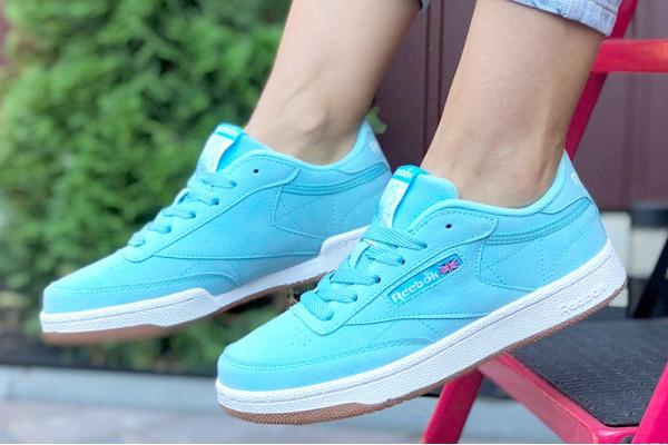 Женские кроссовки Reebok C85 голубые