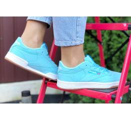 Купить Жіночі кросівки Reebok C85 блакитні в Украине