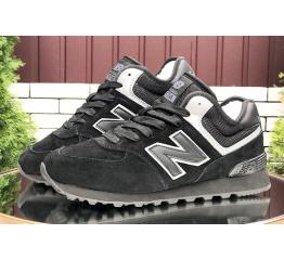 Купить Жіночі високі кросівки зимові New Balance 574 Mid Fur чорні