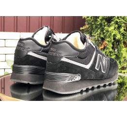 Купить Жіночі високі кросівки зимові New Balance 574 Mid Fur чорні в Украине