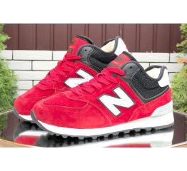 Купить Женские высокие кроссовки на меху New Balance 574 Mid Fur красные