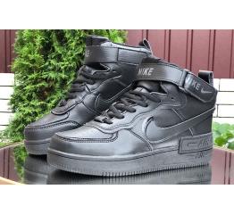 Купить Жіночі високі кросівки зимові Nike Air Force 1 High Utility Shadow чорні