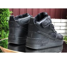 Купить Жіночі високі кросівки зимові Nike Air Force 1 High Utility Shadow чорні в Украине