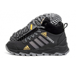 Купить Мужские ботинки на меху Adidas Terrex черные