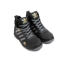 Купить Мужские ботинки на меху Adidas Terrex черные в Украине