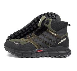 Купить Мужские ботинки на меху Adidas Terrex Cold.RDY темно-зеленые