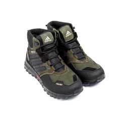 Купить Мужские ботинки на меху Adidas Terrex Cold.RDY темно-зеленые в Украине