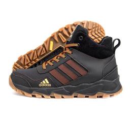Купить Мужские ботинки на меху Adidas Terrex коричневые