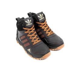 Купить Мужские ботинки на меху Adidas Terrex коричневые в Украине