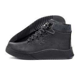 Купить Мужские ботинки на меху Ecco черные