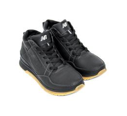 Купить Чоловічі черевики зимові New Balance чорні в Украине