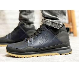 Купить Чоловічі черевики зимові New Balance темно-сині в Украине