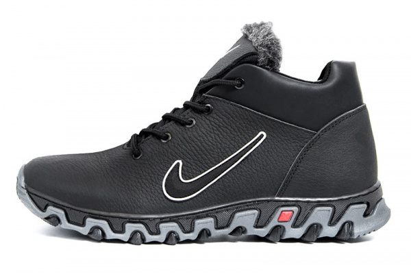 Мужские ботинки на меху Nike черные