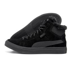 Купить Чоловічі черевики зимові Puma Black Suede чорні