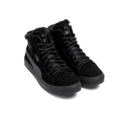 Купить Чоловічі черевики зимові Puma Black Suede чорні в Украине