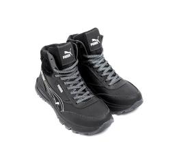 Купить Чоловічі черевики зимові Puma чорні в Украине