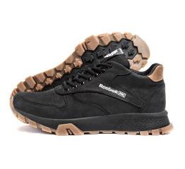 Купить Мужские ботинки на меху Reebok черные с коричневым