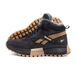 Купить Чоловічі черевики зимові Reebok чорні з коричневим