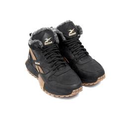 Купить Мужские ботинки на меху Reebok черные с коричневым в Украине