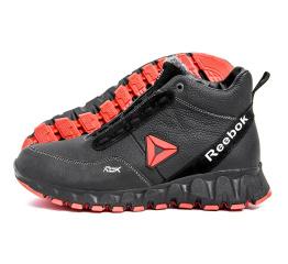 Купить Мужские ботинки на меху Reebok Crossfit черные с красным