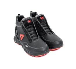 Купить Мужские ботинки на меху Reebok Crossfit черные с красным в Украине