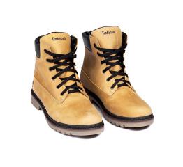 Купить Чоловічі черевики зимові Timberland світло-коричневі в Украине