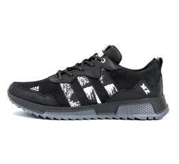 Купить Чоловічі кросівки Adidas чорні з білим