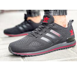 Купить Мужские кроссовки Adidas черные с красным