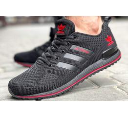Купить Чоловічі кросівки Adidas чорні з червоним в Украине
