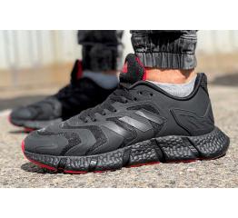 Купить Мужские кроссовки Adidas Climacool Vento черные с красным в Украине