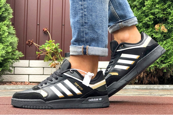 Мужские кроссовки Adidas Drop Step черные с белым
