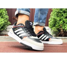 Купить Мужские кроссовки Adidas Drop Step черные с бежевым в Украине