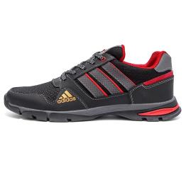 Мужские кроссовки Adidas Flex черные с красным (black/red)