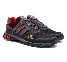 Купить Чоловічі кросівки Adidas Flex чорні з червоним (black / red) в Украине