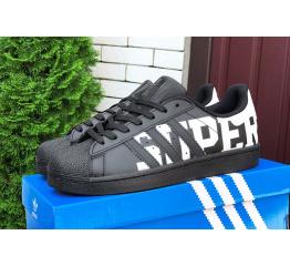 Купить Чоловічі кросівки Adidas Originals Superstar чорні в Украине