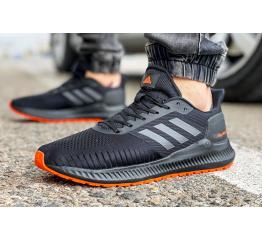 Мужские кроссовки Adidas Solarblaze черные с оранжевым