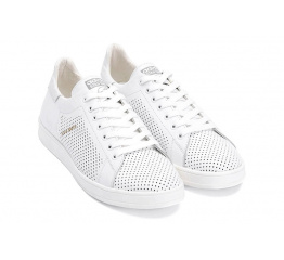Купить Чоловічі кросівки Adidas Stan Smith perforated білі в Украине