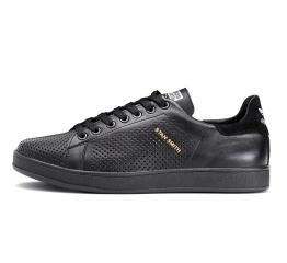 Купить Мужские кроссовки Adidas Stan Smith perforated черные