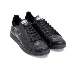Купить Мужские кроссовки Adidas Stan Smith perforated черные в Украине