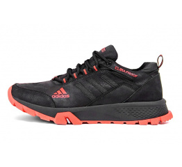 Купить Мужские кроссовки Adidas Terrex черные с красным