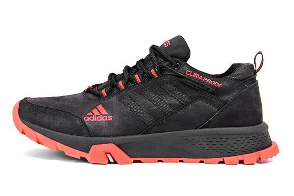Мужские кроссовки Adidas Terrex черные с красным