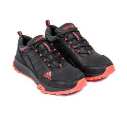 Купить Мужские кроссовки Adidas Terrex черные с красным в Украине