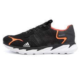 Мужские кроссовки Adidas Terrex черные с оранжевым (black/orange)