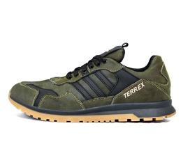Купить Чоловічі кросівки Adidas Terrex зелені з чорним