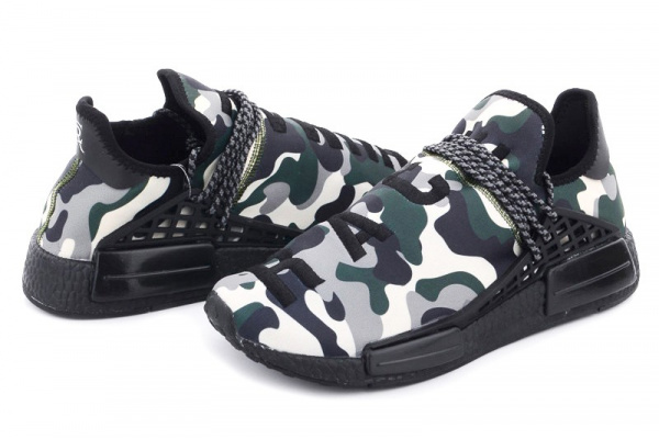 Мужские кроссовки Adidas x Pharrell Williams Human Race camo