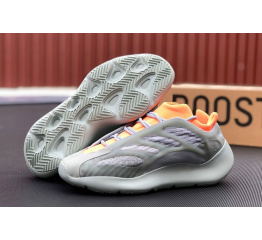 Купить Мужские кроссовки Adidas Yeezy 700 v3 серые с оранжевым